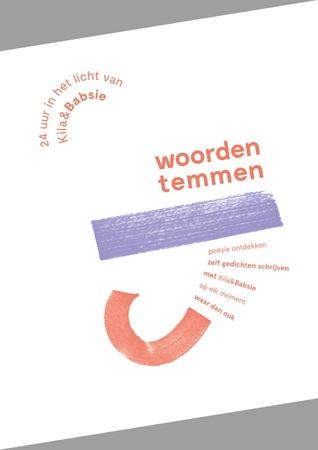 Woorden Temmen - 24 uur in het licht van Kila & Babsie Boek omslag