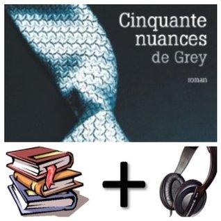 Cinquante [ 50 ] nuances de Grey Audiobook PACK [Book + 2 CDMP3]