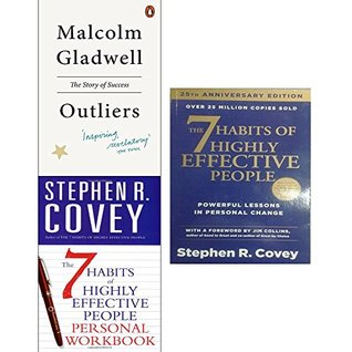 Outliers the story of success and 7 habits of highly effective people personal workbook 3 books collection set