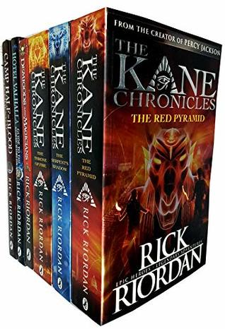 Rick riordan 6 books collection set pack (red pyramid, throne of fire, serpent's shadow, demigods and magicians, hotel valhalla guide to the norse worlds [hardcover], camp half-blood confidential [har