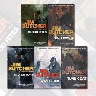 Jim Butcher The Dresden Files Series 5 Books Collection Set