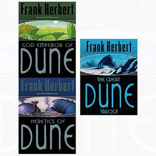 Great dune trilogy and god emperor and heretics 3 books collection set