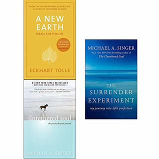 A New Earth, Untethered Soul, The Surrender Experiment 3 Books Collection Set