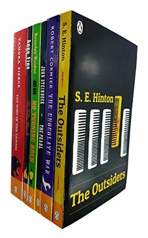 The Outsiders, Chocolate War, The Pearl, No Turning Back, The Tulip Touch, Alanna Song of the Lioness 6 Books Collection Set