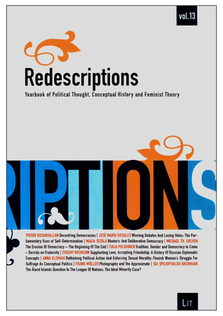 Redescriptions: Yearbook of Political Thought, Conceptual History and Feminist Theory, Vol. 13