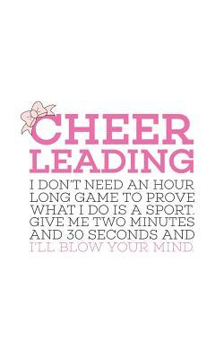 Cheerleading Give Me 2 Two Minutes: Cheerleading Give Me 2 Two Minutes Quote Notebook - Cheerleader Doodle Diary Book Gift For Dance Gymnasts, Sports Athletes And Cheerleaders On Pep Squad Cheer Leading In Sport Competitions And Practice!