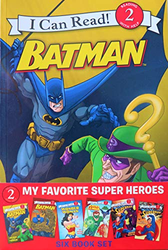 My Favorite Superheroes Six Book Set, I Can Read (Level 2), Reading With Help