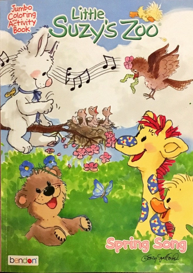 Little Suzy's Zoo: Jumbo Colouring and Activity Book: Spring Song
