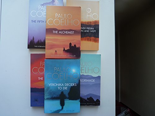 Paulo Coelho Collection five books. Alchemist, By the River Piedra I sat and Wept, the Valkyries, The Pilgrimage and Veronika Decides to Die.