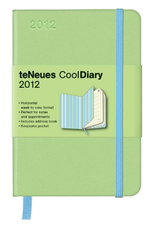 2012 Light Green/Stripes Blue Cool Diary Weekly