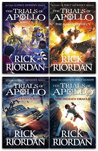 Rick Riordan Trials of Apollo Collection 4 Books Set