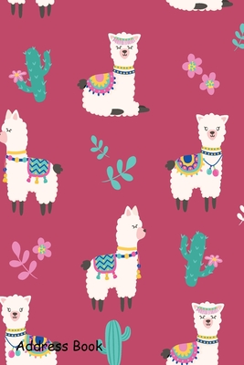 Address Book: For Contacts, Addresses, Phone, Email, Note, Emergency Contacts, Alphabetical Index With Cute Alpaca Pattern