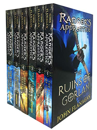 Rangers Apprentice 6 Books Collection Set (Series 1) - Ruins of Gorlan, Burning Bridge, Icebound Land, The Oakleaf Bearers, The Sorcerer in the North, The Siege of Macindaw