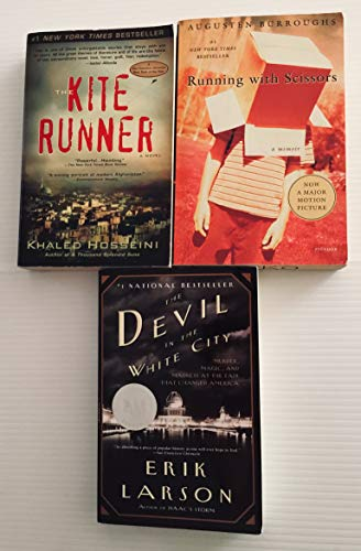 3 Books! 1) Running With Scissors 2) Kite Runner 3) The Devil in the White City