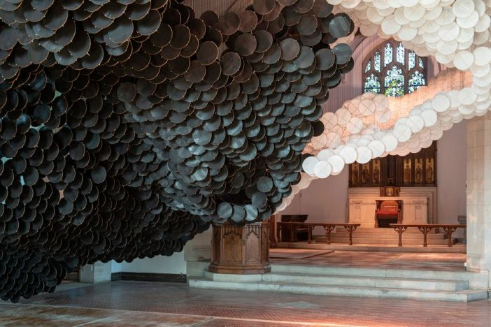 Jacob Hashimoto: The Eclipse (until 31 October), commissioned by the Trust for Governors Island, at St Cornelius Chapel and the Liggett Hall Archway