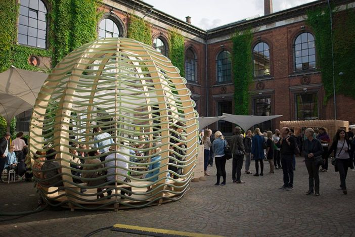 Algae Dome na CHART Art & Design Fair em Copenhagen