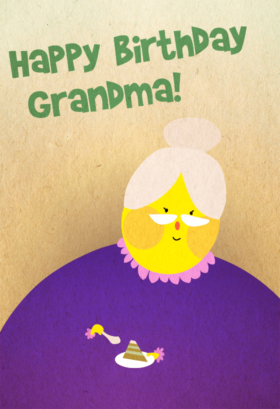 Happy Birthday Grandma Free Birthday Card Greetings Island