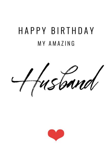 My Amazing Husband Free Birthday Card Greetings Island