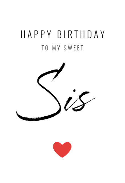 My Sweet Sis Free Birthday Card Greetings Island