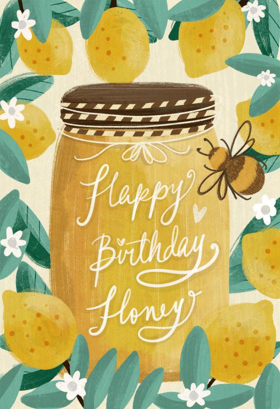 Happy Birthday Honey Birthday Card Greetings Island