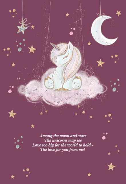 Unicorn Wishes Birthday Card Free Greetings Island