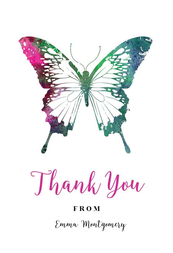 Butterflies Birthday Thank You Card Free Greetings Island