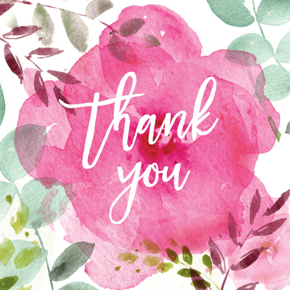 Tickled Pink Free Thank You Card Template Greetings Island