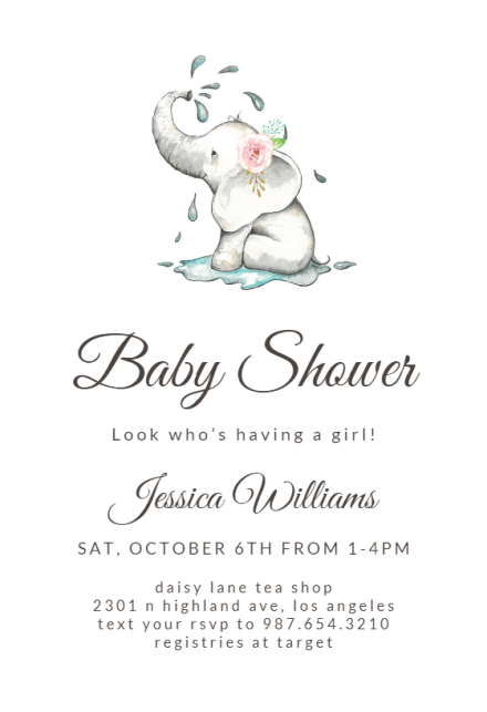 Baby Shower Invitations For S Free Templates