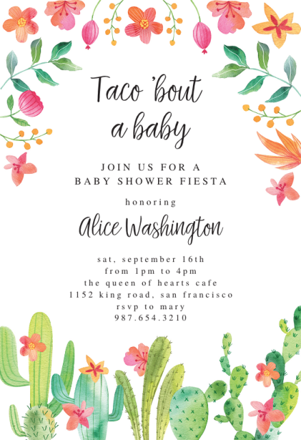 Fiesta Baby Shower Invitation Templates