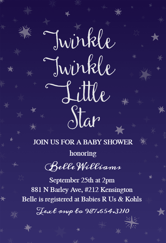 twinkle little star baby shower
