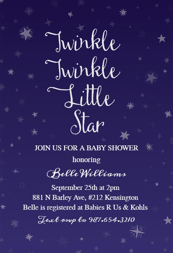 twinkle little star baby shower