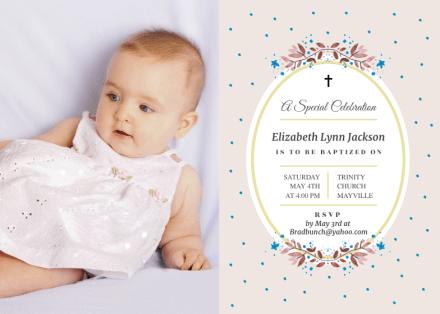 christening invitation templates