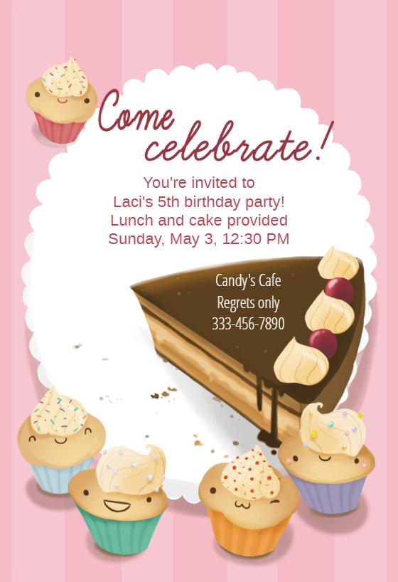 5th birthday invitation template free
