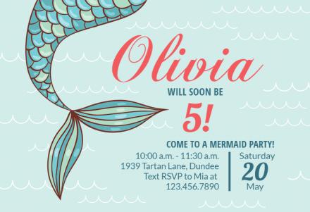 mermaid invitation templates free