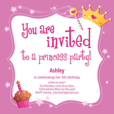 Princess Invitation Template Free Greetings Island
