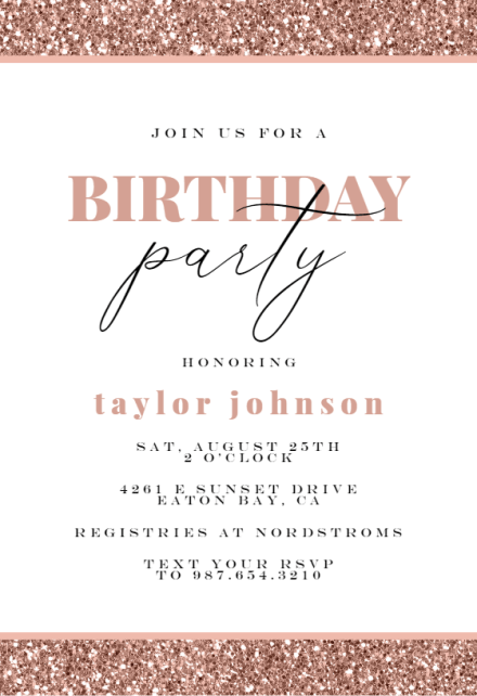 girls birthday invitation templates