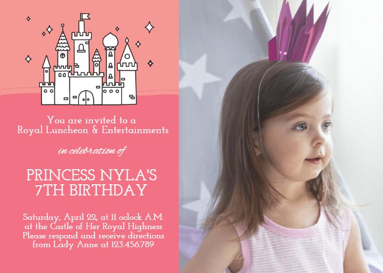 royal highness birthday invitation