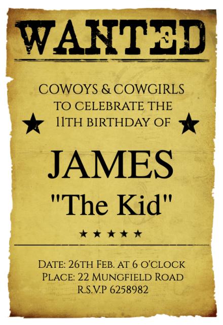western birthday party birthday
