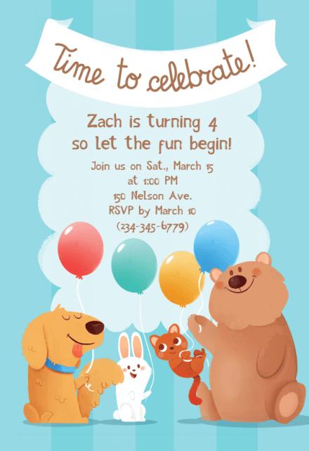 dog birthday invitation template free