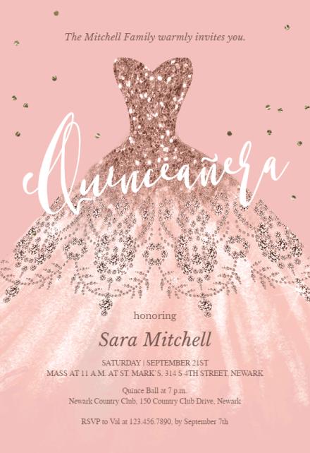 quinceanera invitation templates free
