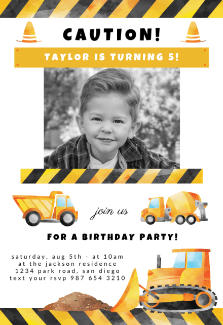 boys birthday invitation templates