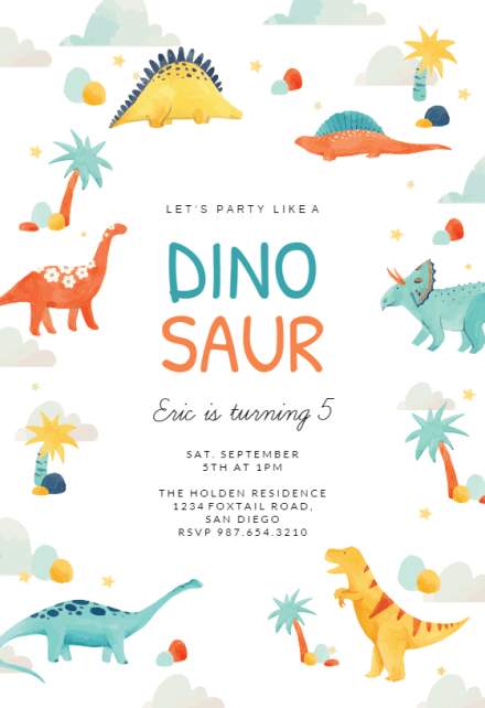 dinosaur adventure birthday