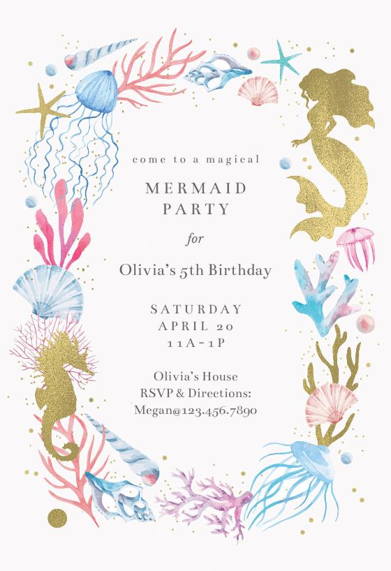 Mermaid Merriment Birthday Invitation Template Free Greetings Island