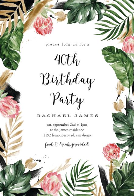 luau party invitation templates free