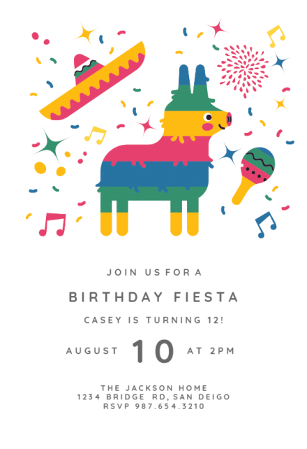 fiesta invitation templates free