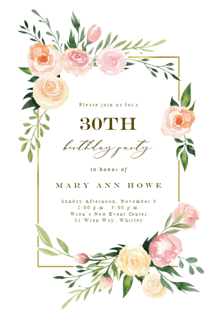 milestone birthday invitation templates