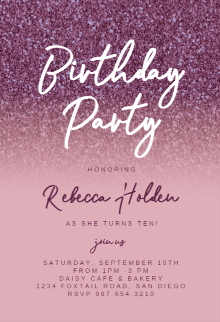 paris birthday invitation template