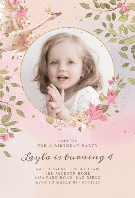 Princess Birthday Invitation Templates Free Greetings Island