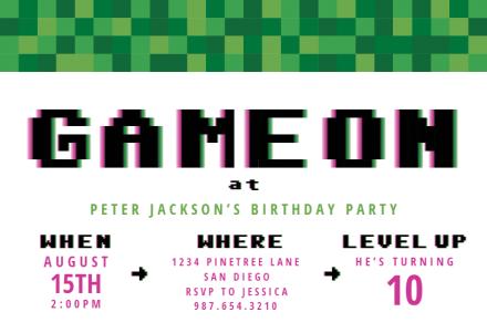 boys birthday invitation templates