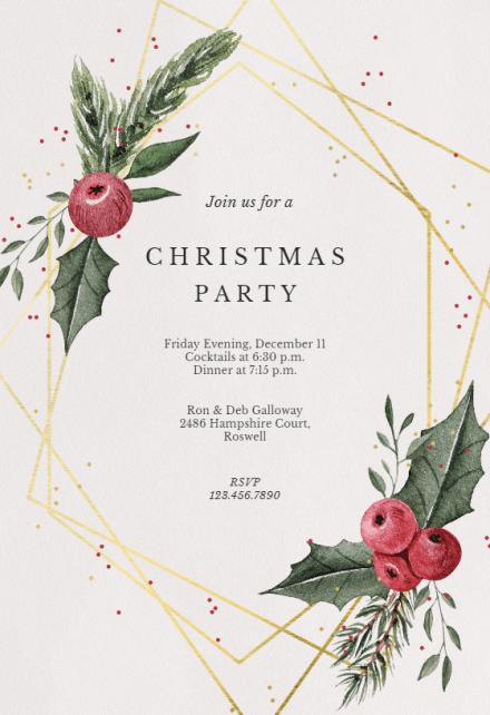 Christmas Party Invitation Templates Free Greetings Island